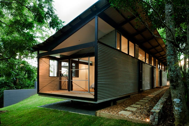 This House At Foxground Nsw Is Clad In Walling Made From