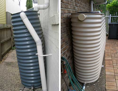 Slimline Water tanks - External bulge