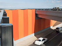 Melbourne's newest bypass uses 65,000 lineal metres of deeply ribbed steel noise wall, approximatly 800 tonnes of GALVASBOND® Steel in 2.4mm and 1.55mm thickness.