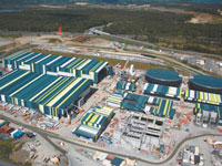 Aerial view of Desalination Plant which uses PERMALITE® cladding