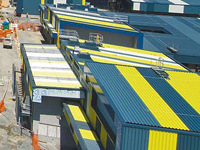 Rooftops of buildings at Desalination Plant, clad in PERMALITE®