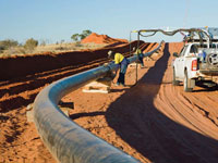 Epic Energy's Queensland 180 kilometre pipeline will transport natural gas to homes and businesses in South Australia and New South Wales. It incorporates 17,000 tonnes of API grade PIPESTEEL™