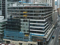 Steel framing and composite slabs were used to add nine storeys to Sydney's World Square 13 storey structure.