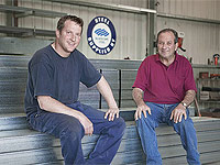 Mario Amabili and his son, David, of Amace industries in McLaren Vale, South Australia