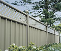 Using The Latest Colour Trends To Warm Your Winter Garden, Fence made from COLORBOND® in colour RIVERSAND®, supplied by Bluescope Steel