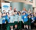 (From left, back row) Andrew Cropp, NSW Regional Business Manager for BlueScope Water,