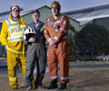 Firefighting heroes: Tony Brown, Michael Carr and Paul De Bruyn of Western Port operation