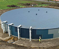 Cranbourne Aquatic & Leisure Centre, Melbourne, 2 million litre rainwater tank made from 4mm Grade 250 XLERPLATE® steel