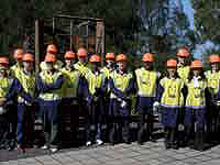 Young Pipeline Forum participants (YPFers) from around Australia embark on tour of BlueScope Steel's Port Kembla plant.