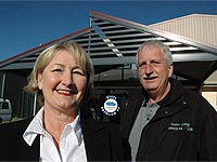 Pergolas Plus Outdoor Living owners Julie and Ian Brooksby … one of their pergolas has got the pub talking