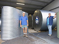 Owners Tony and Michelle Kounnas say Cessnock Tank Works, a member of the STEEL BY™ Brand Partnership Program, is growing rapidly, manufacturing around 60 round and slim tanks a month.