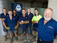 Owner Neil Wratten and the team from Nanango Tank Makers, a member of the STEEL BY™ Brand Partnership Program, notched up A$1 million in sales in December 2006 because of Queensland's current water shortage crisis.