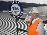 Peter Ebzery, Sales Manager of Murphys Metal Roofing and Facade Services, a member of the STEEL BY™ Brand Partnership Program which uses about 300 tonnes of BlueScope Steel roofing products per year.