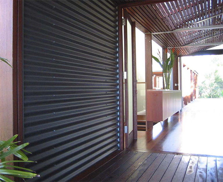 Cladding Made From Colorbond 174 Metallic Steel Featured On