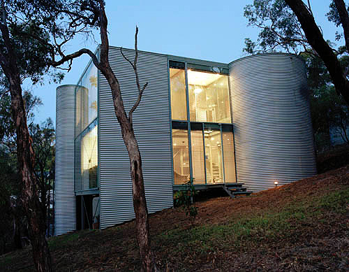 Adelaide Architect Peter Risbey S Home Cylinders Made