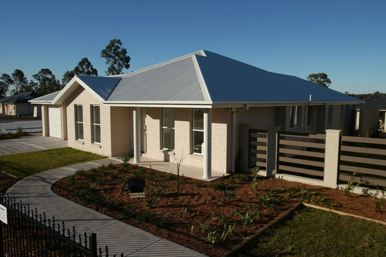Mcdonald Jones Wakefield Display Home With Roof Made From