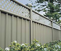 BlueScope Lysaght fence made from COLORBOND® steel