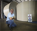 Bundaberg Tank Makers owner Kevin Beveridge uses AQUAPLATE® steel to build rainwater tanks
