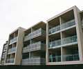 The Frontage apartment conmplex at Victor Harbour, South Australia is roofed in LYSAGHT KLIP-LOK 700 HI-STRENGTH® in COLORBOND® Ultra steel colour Surfmist®.