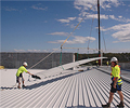 Batemans Bay Retail Development - 35 metre long lengths of LYSAGHT KLIP-LOK 700 HI-STRENGTH® made installation a lot quicker