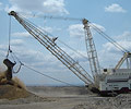 P&H MinePro Services' 9020 model dragline weighs in at nearly 6,000 metric tonnes and uses 3,000 tonnes of XLERPLATE® steel