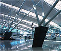 Qantas departees concourse, Sydney.  Roofing was made using COLORBOND® steel.