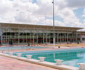 Perth's Inglewood Aquatic Centre - Wide overhangs made from LYSAGHT KLIP-LOK® 406 steel are used to great advantage.