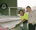 Machine Operator David Luck (left) and Director Steve Cassidy of Eziform Sheet Metal