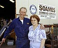 George and Ann Soames from Soames Combined Services who manufactured and installed the unique four level lift for the two kilometre long Busselton Jetty Underwater Observatory in south western Western Australia.