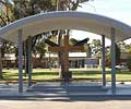 The memorial was built to commemorate the outstanding service by the people of this RAAF base. It was constructed using LYSAGHT® purlins and LYSAGHT CUSTOM BLUE ORB®.